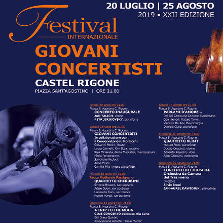 Festival Internazionale Giovani Concertisti - Castel Rigone (PG) - dal 20 luglio al 25 agosto