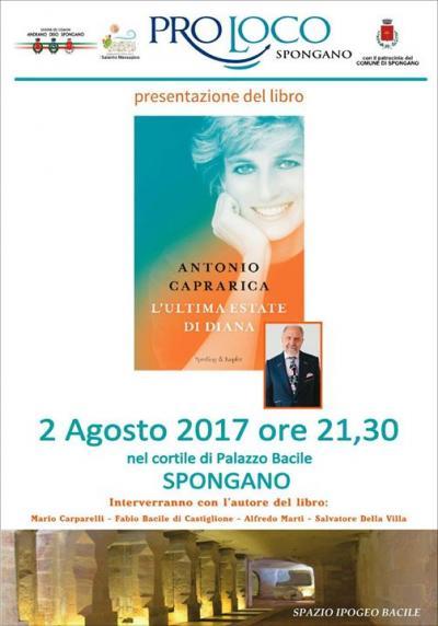 presentazione L'Ultima Estate di Diana di Antonia Caprarica - Spongano 2017