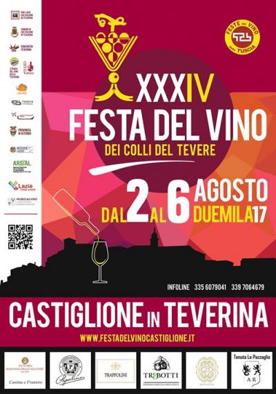 locandina Festa del Vino di Castiglione in Teverina 2017