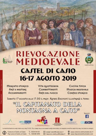 locandina Rievocazione Medioevale Castel di Casio 2019