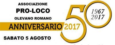 manifesto 50 anni Proloco Olevano Romano