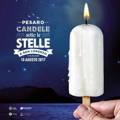A Pesaro, Candele sotto le Stelle a San Lorenzo, 10 agosto 2017. © Comune di Pesaro