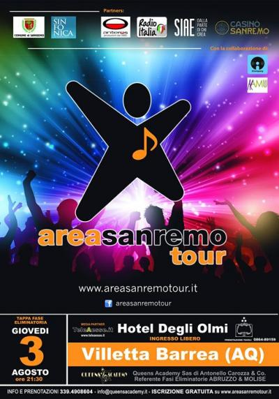 locandina Area Sanremo Tour