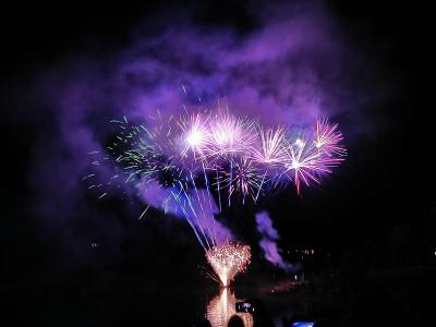 Fuochi d'artificio sul Lago di Fiastra, 9 agosto 2017. © Comune di Fiastra