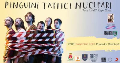 Pinguini Tattici Nucleari @ Camerino Phoenix Festival, 22 agosto 2019. © Movimento Giovanile Panta Rei / Pinguini Tattici Nucleari / BPM Concerti.