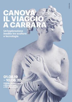 Canova - Il viaggio a Carrara. CARMI - Museo Carrara e Michelangelo a Villa Fabbricotti, Carrara, dal 01/08/2019 al 10/06/2020. © CANOVA - Il viaggio a Carrara.