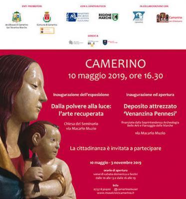 Dalla polvere alla luce: l'arte recuperata. Camerino, dal 10 maggio al 03 novembre 2019. © Musei Civici Camerino.