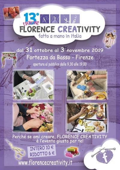 Florence Creativity Autunno 2019 - Firenze - dal 31 otobre al 3 novembre