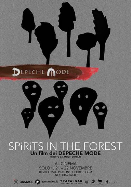locandina Depeche Mode: spirits in the forest - Venezia