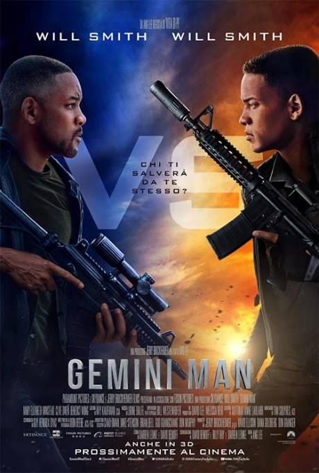 locandina Gemini Man - Montano Lucino