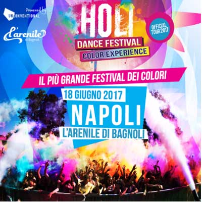 Holi Dance Festival Napoli Official Tour 2017 - giugno 2017