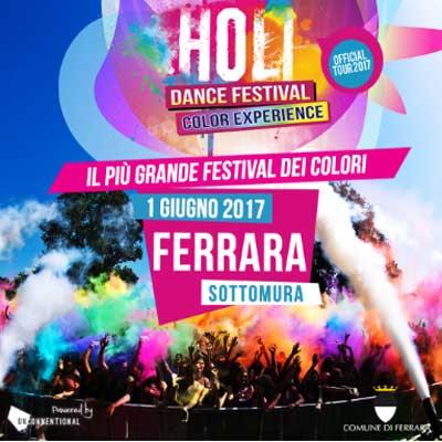 Holi Dance Festival Ferrara Official Tour 2017 - giugno 2017