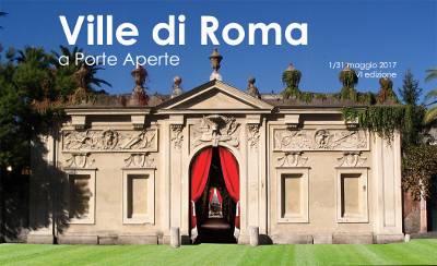 locandina Ville di Roma a porte aperte